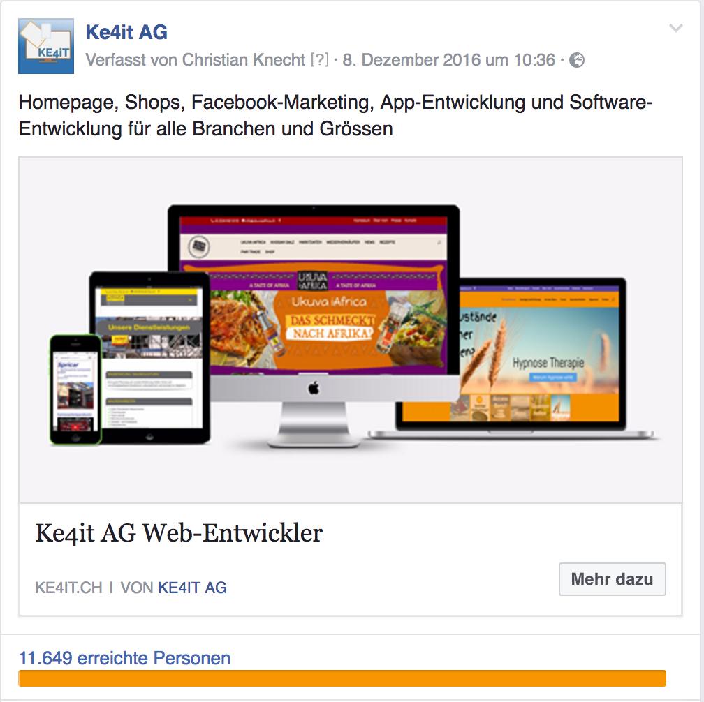 regionale Facebook Werbung