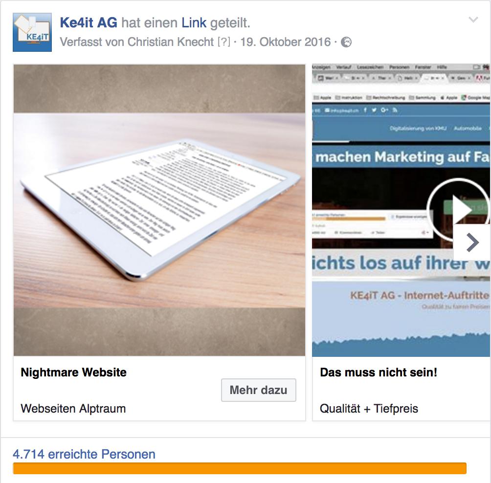 Facebook Werbung mit Bildern