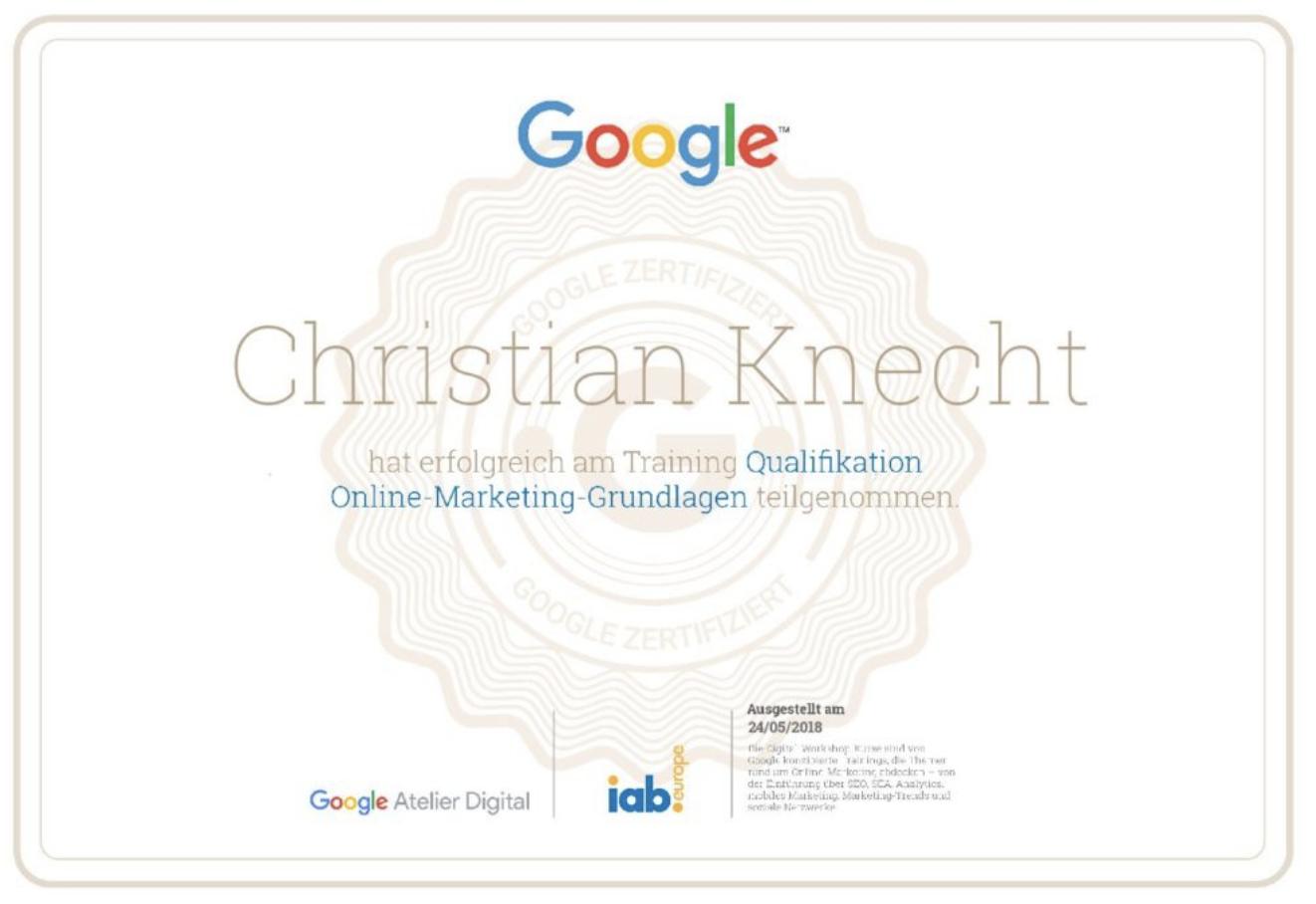 KE4iT mit Google Zertifizierung