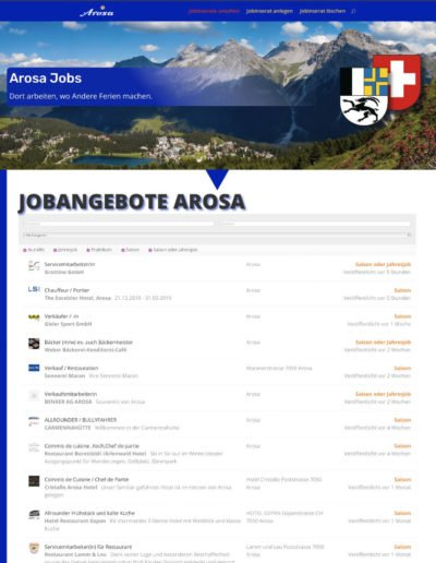 Jobbörse Arosa